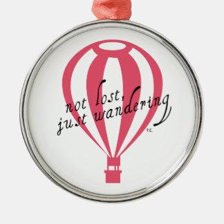 Not Lost, Just Wandering Travel Slogan Christmas Ornament