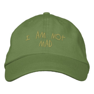 Not Mad Hat Embroidered Hats