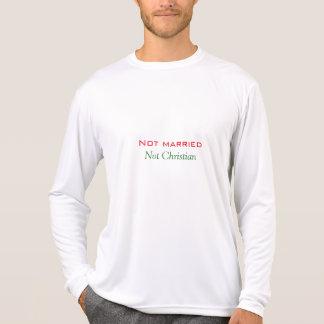 Not Married not christian men's shirt