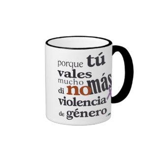 Not More Violence of Sort Ringer Mug