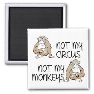 Not My Circus Or Monkeys Funny Fridge Magnet