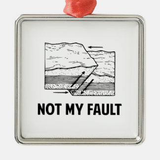 Not My Fault Christmas Tree Ornaments