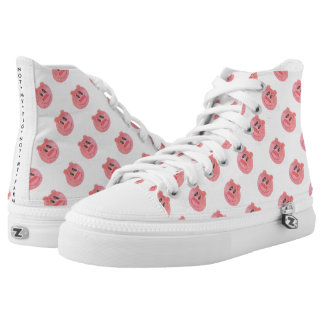 """NOT MY PIG NOT MY FARM"" PIGGY HIGH TOPS"