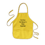 Not Now My Bunny Is More Important Kids Apron