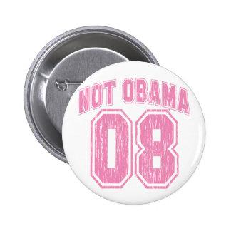 Not Obama 08 Vintage 6 Cm Round Badge