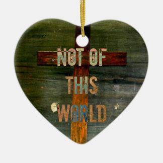 """Not of This World"" Custom Christian Ceramic Heart Decoration"