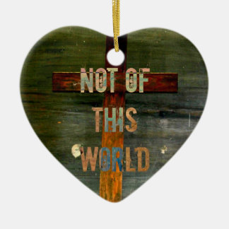 """Not of This World"" Custom Christian Christmas Ornament"