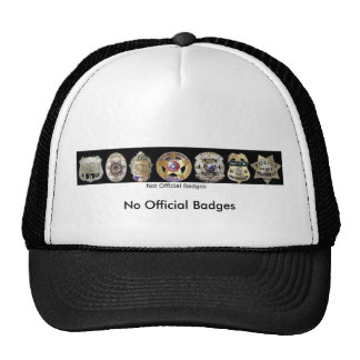 Not Official Badges, No Official Badges Hat