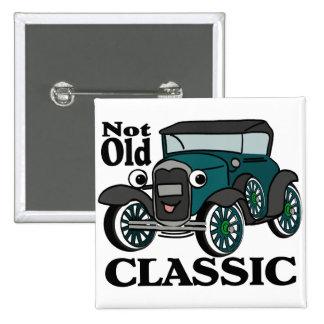 Not Old Classic/ Antique Car 15 Cm Square Badge