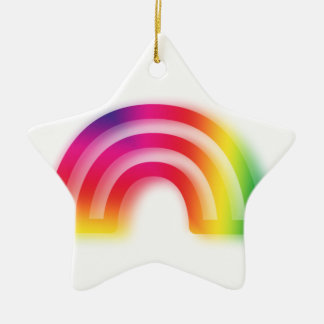 Not one or two, but three rainbows! ceramic star decoration