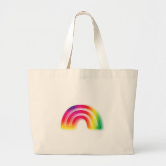 Not one or two, but three rainbows! large tote bag