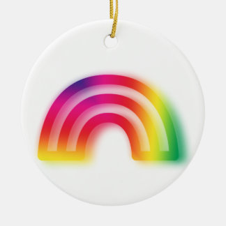 Not one or two, but three rainbows! round ceramic decoration