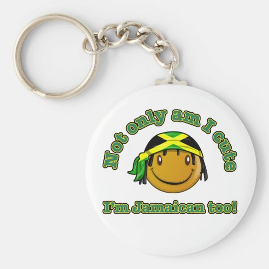 Not only am i cute I'm Jamaican too Basic Round Button Key Ring