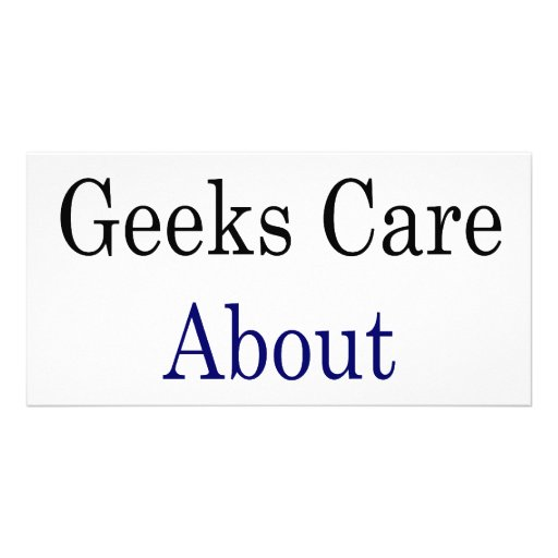 Not Only Geeks Care About The Oceans Picture Card