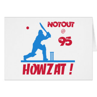 Not out at 95 greeting card