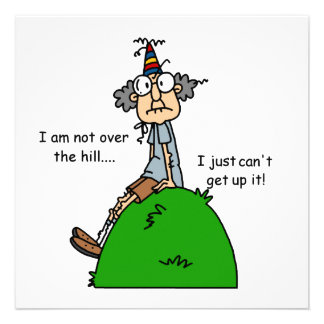 Not Over the Hill Humor Custom Invitation