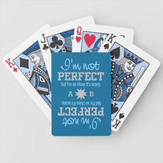 Not Perfect custom monogram playing cards