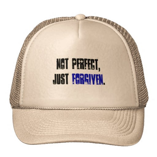 Not Perfect Just Forgiven Mesh Hat