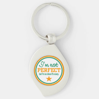 Not Perfect key chain Silver-Colored Swirl Key Ring