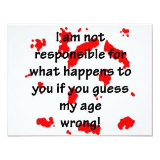 Not Responsible 11 Cm X 14 Cm Invitation Card