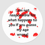 Not Responsible Sticker