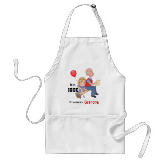 Not Retired Promoted Grandpa Aprons