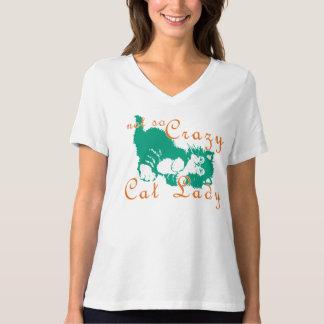 Not So Crazy Cat Lady Green T-Shirt