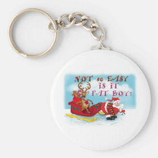 Not So easy Is it Fat Boy Basic Round Button Key Ring