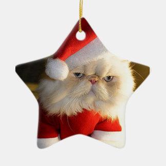 Not So Jolly Santa Cat Christmas Tree Ornaments