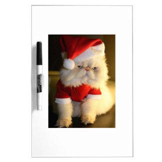 Not So Jolly Santa Cat Dry-Erase Whiteboards
