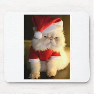 Not So Jolly Santa Cat Mouse Pads