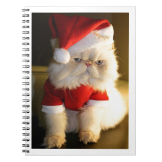Not So Jolly Santa Cat Spiral Notebooks