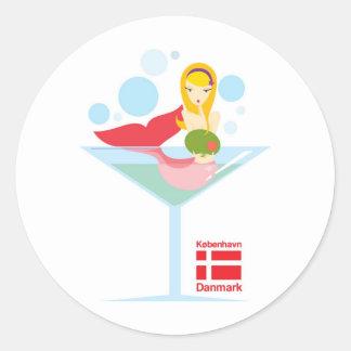 not-so-little Mermaid Round Sticker