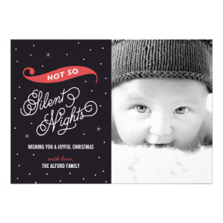 Not So Silent Night Christmas Photo Cards Cards