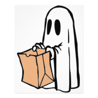 Not So Spooky Halloween Ghost Trick or Treater 21.5 Cm X 28 Cm Flyer