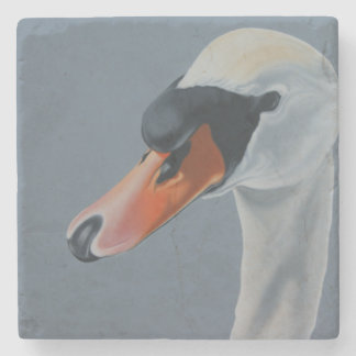 """Not So Ugly Now"" swan coaster. Stone Coaster"