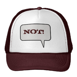 Not Speech Bubble Hat