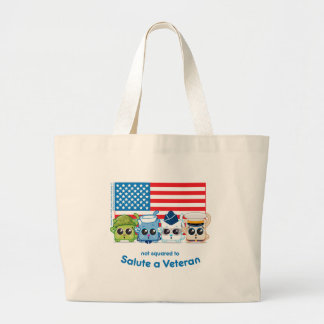Not Squared to Salute a Veteran Canvas Bags