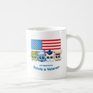 Not Squared to Salute a Veteran Coffee Mug