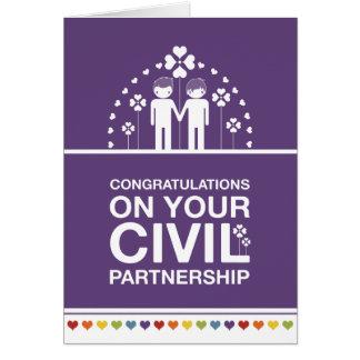 Not Straight Design Civil Partnership Card