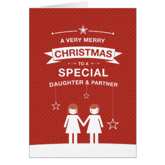 Not Straight Design Daughter and Partner Card