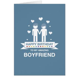 Not Straight Design Happy Birthday Boyfriend Card