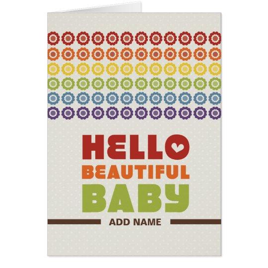 Not Straight Design - Hello Beautiful Baby card