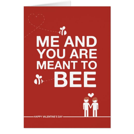 Not Straight Design 'Meant to Bee' Card
