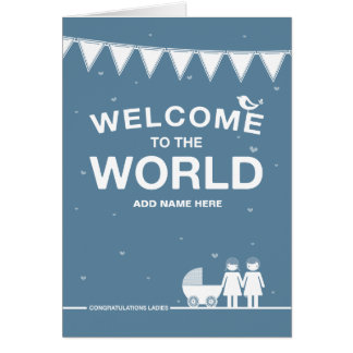 Not Straight Design 'New Baby' Card