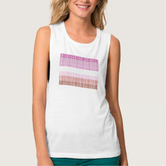 """Not Straight"" Lesbian Flag Tank Top"