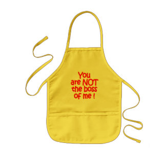 NOT the boss!  apron