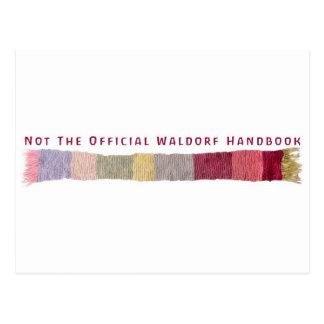 Not The Official Waldorf Handbook Scarf Logo Postcard