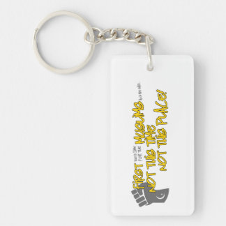 Not This Place Key Chain