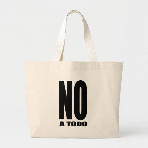 Not to everything canvas bag